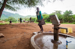 Money raised for CAFOD's Lent appeal can help girls like Proscovia have access to clean water and go to school (David Mutua,
