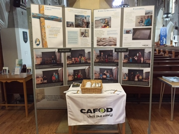 Lampedusa_Cross_display_Cardiff_Cathedral