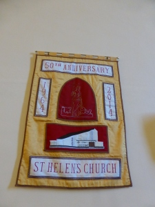 50 anniversary of St Helen's church wall hanging