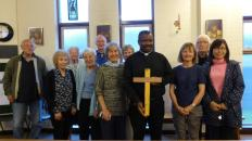 Fr Michael with parishioners at Our Lady of Perpetual Succour Knighton & Our Lady of the Assumption & St Therese Presteigne