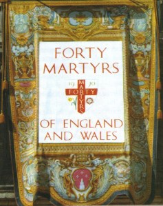 Banner of the Forty Martyrs of England and Wales