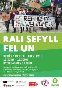 rali-sefyll-fel-un-stand-as-one-flyer-in-welsh