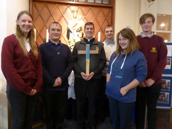 Fr Liam Bradley with members of the Youth Group
