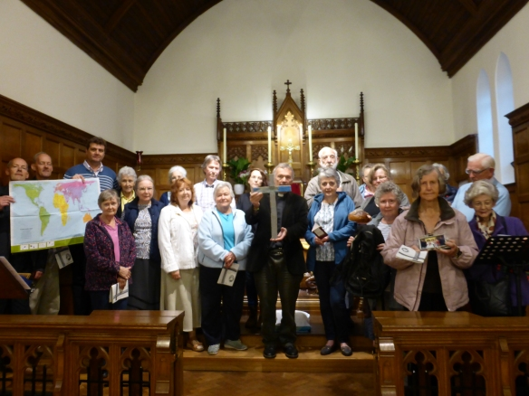 Fr Nick James and parishioners from St Frances of Rome and St Mary's