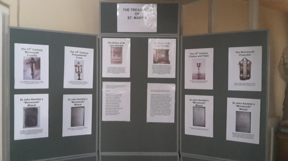 St Mary's display of their historical items