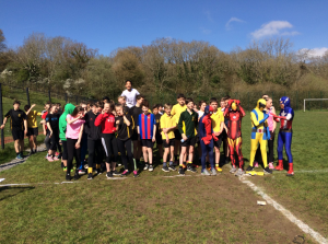 Year 8 pupils took part in a fun run for CAFOD