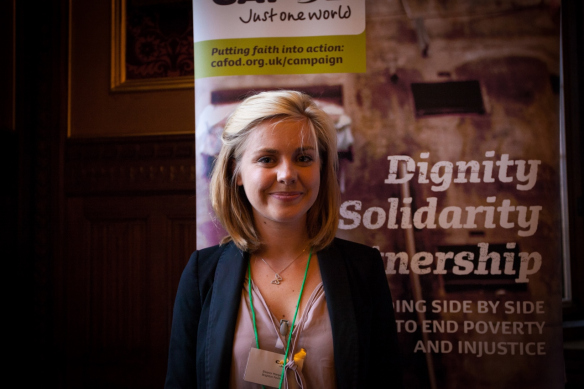 Eleanor Margetts CAFOD volunteer from Brighton