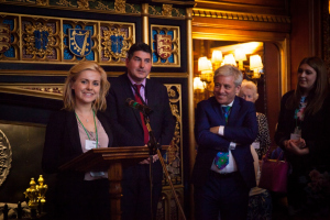 Eleanor speaking in the Houses of Parliament