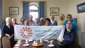 Parishioners from Holy Name Fishguard and St Michael's in St David's at St Nons for STJ
