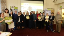 Supporters with Sr Yvonne at Nazareth House Cardiff