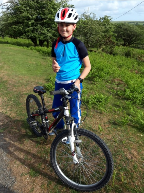 Ewan, 10, from Tavistock, cycled 320km to fundraise for CAFOD's Coronavirus appeal.